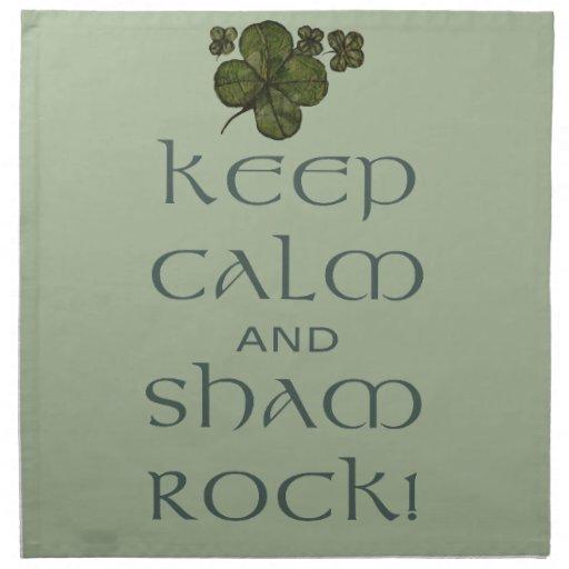 ¡Mantenga roca tranquila y del impostor! Servilleta De Papel