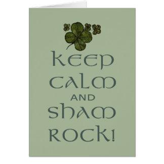 ¡Mantenga roca tranquila y del impostor! Tarjeta De Felicitación