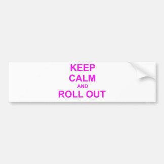 Mantenga rosa tranquilo y del desarrollo del naran pegatina para auto