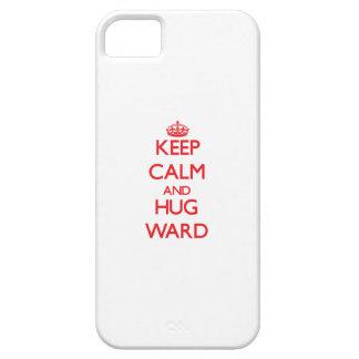 Mantenga sala tranquila y del abrazo iPhone 5 carcasa