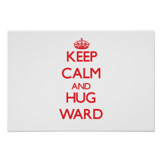 Mantenga sala tranquila y del abrazo posters