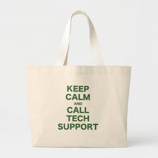 Mantenga soporte técnico tranquilo y de la llamada bolsa tela grande
