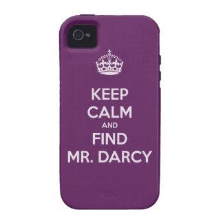 Mantenga Sr. tranquilo y del hallazgo Darcy Jane iPhone 4 Fundas