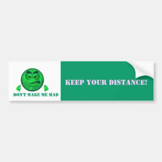Mantenga su distancia sonriente pegatina para auto