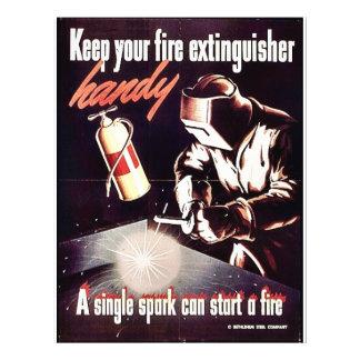 "Mantenga su extintor práctico folleto 8.5"" x 11"""
