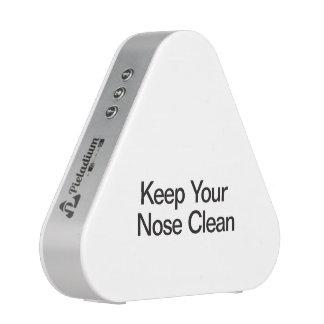 Mantenga su nariz limpia altavoz