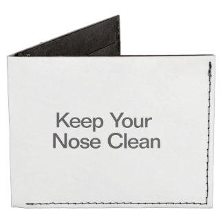 Mantenga su nariz limpia billeteras tyvek®