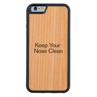 Mantenga su nariz limpia funda de iPhone 6 bumper cerezo
