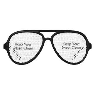 Mantenga su nariz limpia gafas de sol