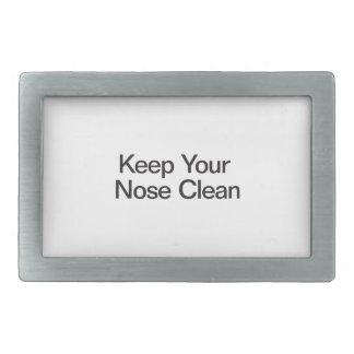 Mantenga su nariz limpia hebillas cinturón rectangulares
