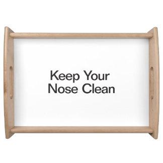 Mantenga su nariz limpia bandeja