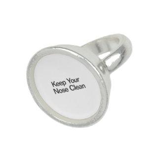 Mantenga su nariz limpia anillo