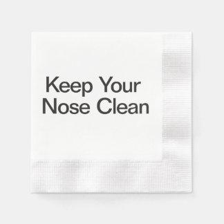Mantenga su nariz limpia servilletas desechables