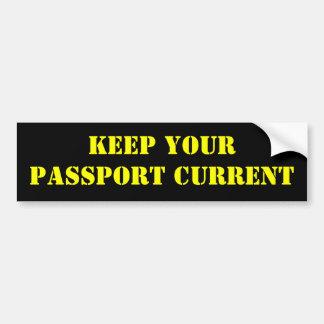 Mantenga su pasaporte actual pegatina para auto
