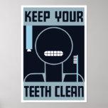 Mantenga sus dientes limpios -- WPA Impresiones