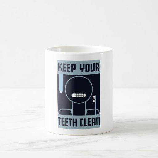 Mantenga sus dientes limpios -- WPA Taza