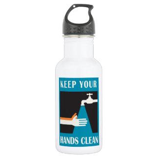 mantenga sus manos limpias