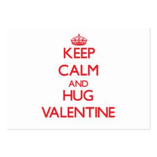 Mantenga tarjeta del día de San Valentín tranquila Tarjetas De Visita