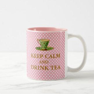 Mantenga taza tranquila y de la bebida del té