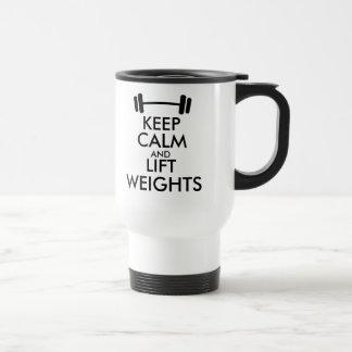 Mantenga taza tranquila y de la elevación de los p