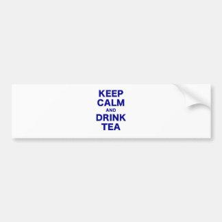 Mantenga té tranquilo y de la bebida pegatina para auto