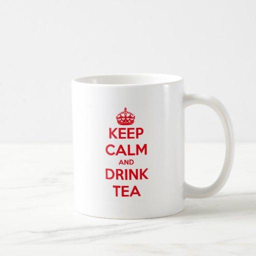mantenga té tranquilo y de la bebida taza de café