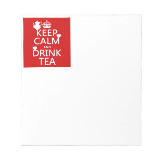 Mantenga té tranquilo y de la bebida - todos los c libretas para notas