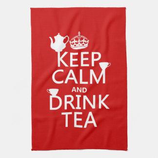 Mantenga té tranquilo y de la bebida - todos los c toallas de cocina