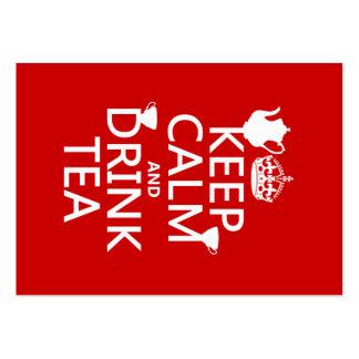 Mantenga té tranquilo y de la bebida - todos los c tarjetas de negocios
