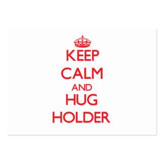 Mantenga tenedor tranquilo y del abrazo tarjetas de visita