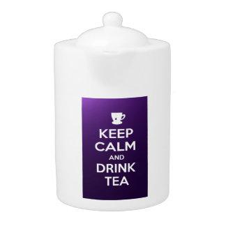 Mantenga tetera tranquila y de la bebida del té