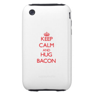 Mantenga tocino tranquilo y del abrazo tough iPhone 3 coberturas