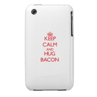 Mantenga tocino tranquilo y del abrazo iPhone 3 Case-Mate cárcasas
