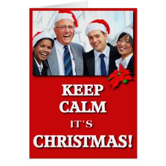 ¡Mantenga tranquilo él es navidad! (Rojo) Tarjeta De Felicitación