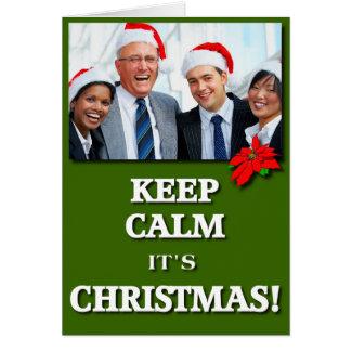 ¡Mantenga tranquilo él es navidad! (Verde) Tarjeta De Felicitación