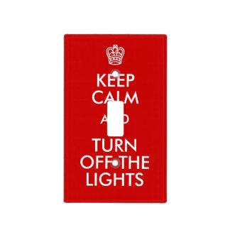 Mantenga tranquilo para apagar enciende la cubiertas para interruptor