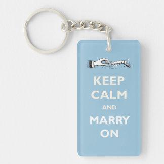 Mantenga tranquilo para casarse en llavero