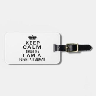 Mantenga tranquilo para confiarme en que soy asist etiquetas maletas