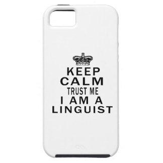 Mantenga tranquilo para confiarme en que soy lingü iPhone 5 Case-Mate funda