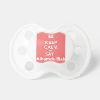 Mantenga tranquilo para decir Alhumdulillah Chupete