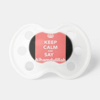 Mantenga tranquilo para decir Alhumdulillah Chupetes Para Bebes