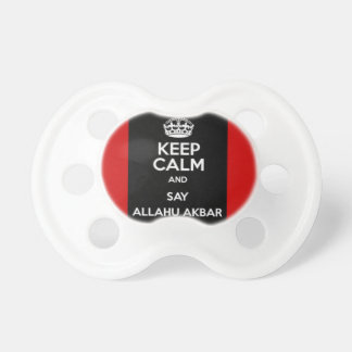 Mantenga tranquilo para decir Allahu Akbar Chupetes De Bebe