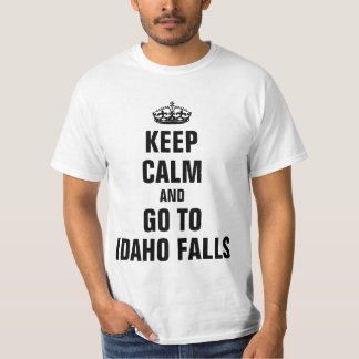 Mantenga tranquilo para ir a las caídas de Idaho Polera