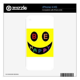 Mantenga tranquilo para ser destino feliz calcomanía para iPhone 4S
