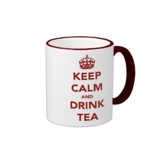 Mantenga tranquilo, té de la bebida tazas de café