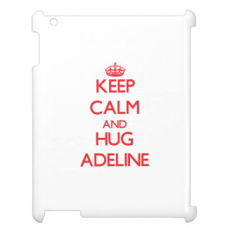 Mantenga tranquilo y abrazo Adelina
