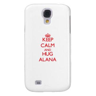 Mantenga tranquilo y abrazo Alana Funda Para Galaxy S4