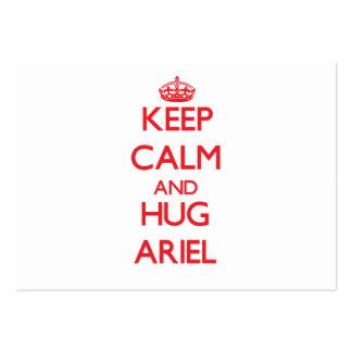 Mantenga tranquilo y ABRAZO Ariel Plantillas De Tarjetas Personales