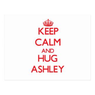 Mantenga tranquilo y abrazo Ashley Postal