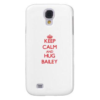 Mantenga tranquilo y abrazo Bailey